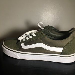 Olive Green/ Army Green Vans Size 11